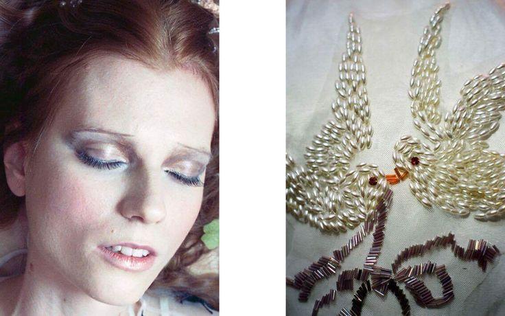 The Candie silk jacket with hand beading / Nora Sarman / photo Eva Szombat / concept and hair Judit Iglody / make up Barbara Keseru / model Viktoria Icon