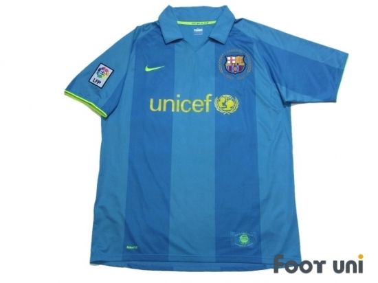 Barcelona 2007-2008 Away Shirt LFP Patch/Badge NIKE unicef - Football Shirts,Soccer Jerseys,Vintage Classic Retro - Online Store From Footuni Japan