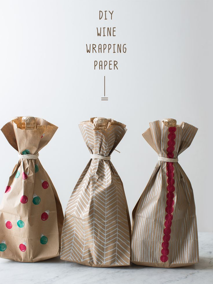 DIY Wine Wrapping Paper