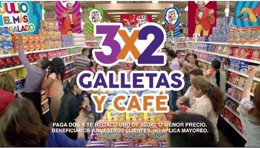Julio Regalado 2016 3×2 en galletas y cafés