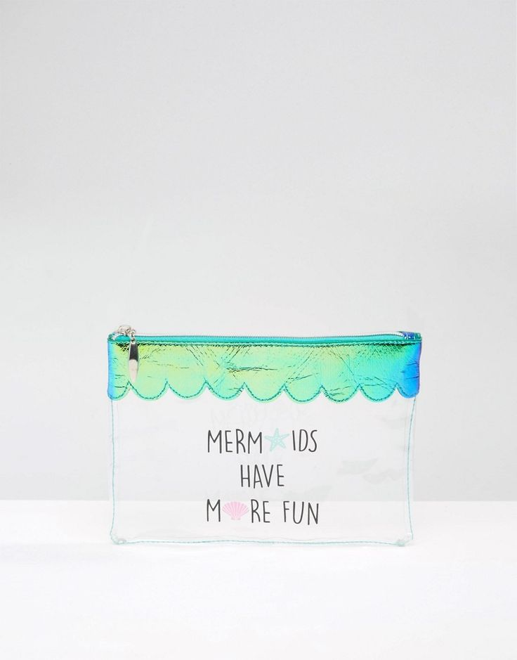 Image 1 of New Look Mermaids More Fun Plastic Make Up Bag
