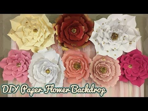 Paper Flower Backdrop Pink White And Gold Theme Party Backdrop