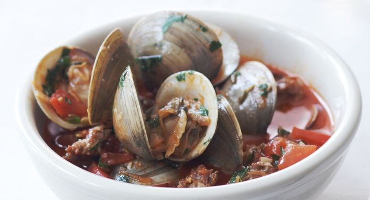 clams and chorizo with smoked paprika butter sauce buttered clams ...
