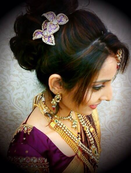 Astounding Indian Bridal Hairstyles Hairstyles And Indian Bridal On Pinterest Hairstyle Inspiration Daily Dogsangcom