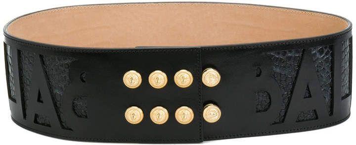 d1003de1b6 Balmain embossed logo waist belt   Accessories   Belt, Jewelry ...