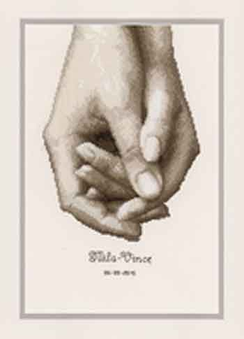 Hand in Hand Wedding Sampler Cross Stitch Kit By Vervaco