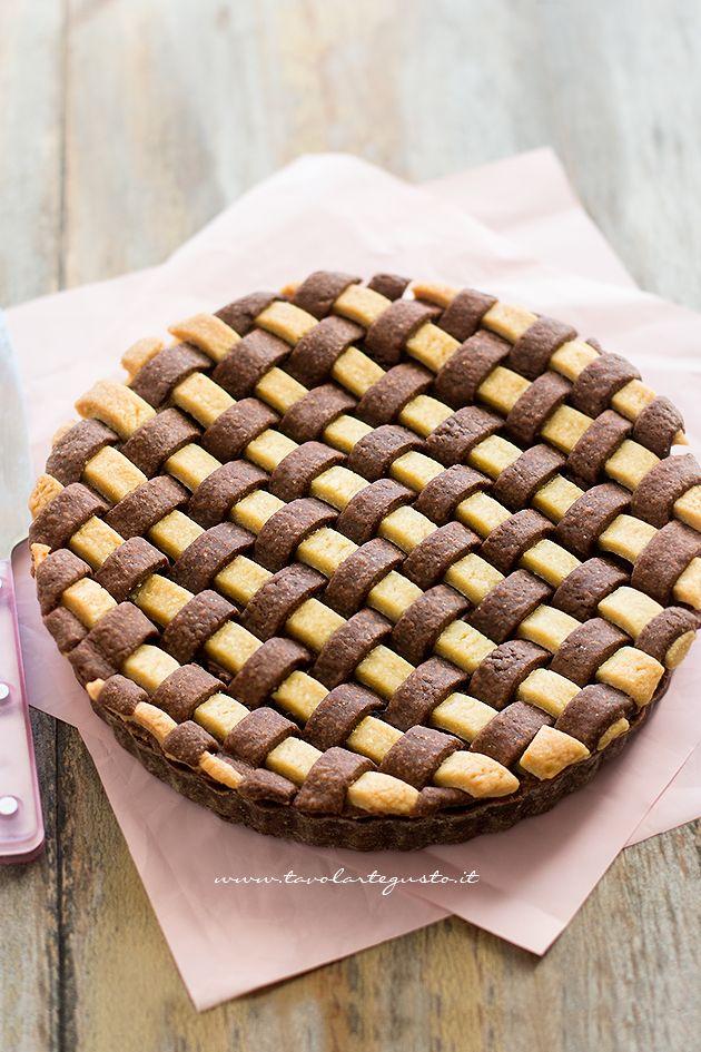 Crostata Crema e Nutella intera - Ricetta Crostata Crema e Nutella