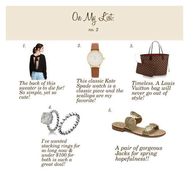 On My List: No. 2 by blessedandfabulousa on Polyvore featuring Kate Spade  and Pandora