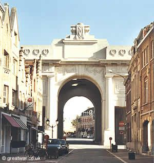 An emotional moment listening to The Last Post being played here, which is done every evening at 8pm and has been since the end of WWI, except during the years of WWII. (View of the Menin Gate Memorial from Meensestraat in Ypres.)