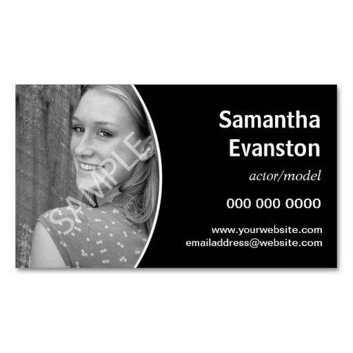 301 best model business cards images on pinterest business cards performers headshot curved black business card reheart Images