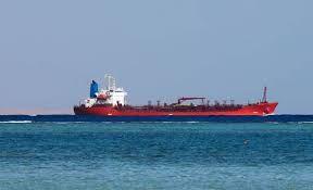 Ship cruising along the sea