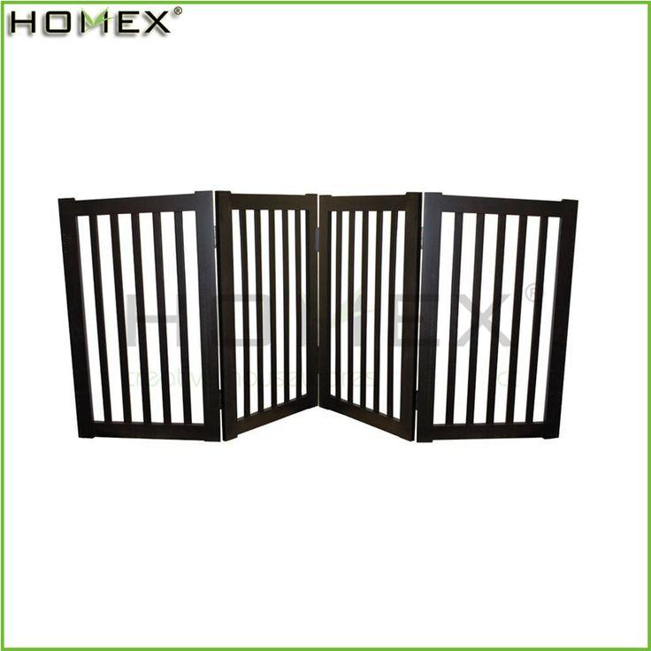 Escuro Espresso de madeira 4 painéis cão dobrável Pet portão / Homex_BSCI-imagem-Outros produtos para animais de estimação-ID do produto:60366874564-portuguese.alibaba.com