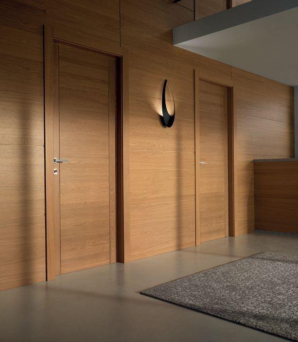 Téléchargez le catalogue et demandez les prix de Pangea | porte en chêne By garofoli, porte poussante en bois massif, Collection moderne