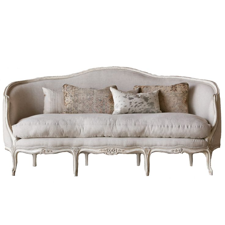 Curved louis xv sofa belle maison french sofas and for Louis xv canape sofa