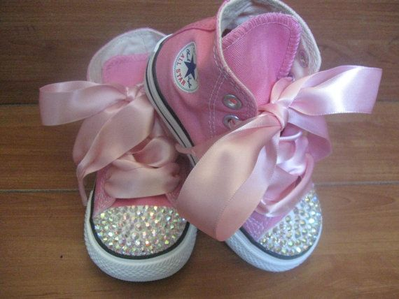 the cutest ever!Baby Girls Shoes, Pink Converse, Little Girls, Convers Shoes, Future Kids, Converse Shoes, Pink Bling, Flower Girls, Baby Shoes