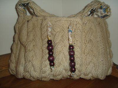 Knitting Pattern Hobo Bag : cabled-hobo-bag-pattern Knitting/Crochet Pinterest