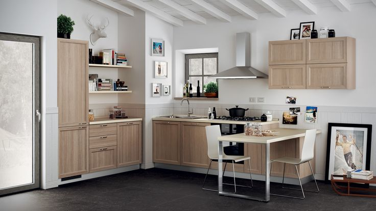 """Highland Kitchen - design by Vuesse. The reference to the country kitchen tradition is clear, however, the plain central panel places Highland in the up-to-date, modern """"country"""" category."""