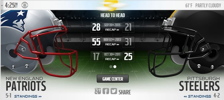 Patriots vs Steelers Live Stream. Watch Patriots vs Steelers Game Online Live on CBS. Sunday Night football New England Patriots vs Pittsburgh Steelers Game