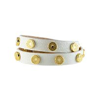 WHITE SOUTH HILL SIGNATURE WRAP WITH GOLD STUDS