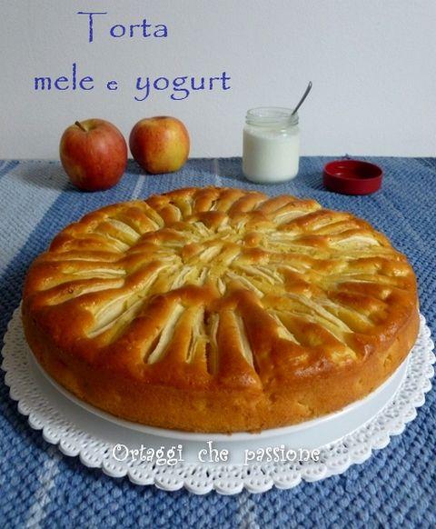 Torta di mele e yogurt, ricetta light