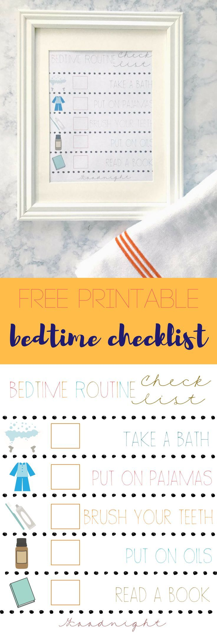 Five Step Bedtime Routine and Printable - The View From Up ...