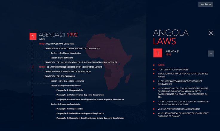 African Mining Legislation Atlas Web Design on Behance