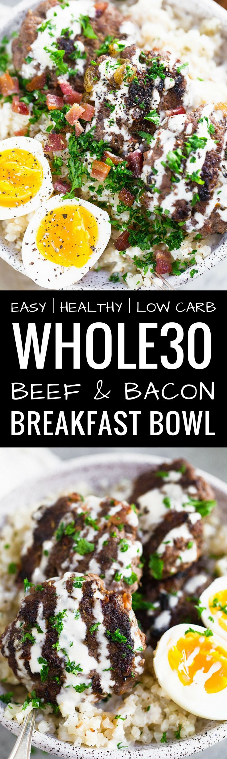 Whole30 Beef and Bacon Breakfast Bowl. THE BEST be…
