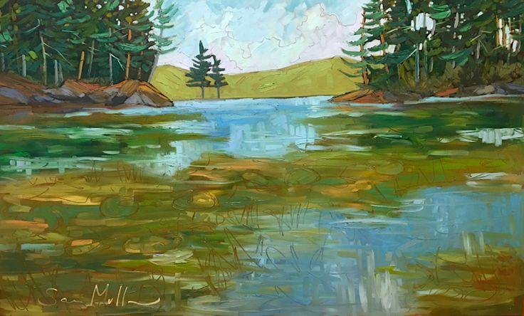 Opinicon Lake by Sara Alex Mullen. Ottawa artist, Canadian artist, Landscape painter.