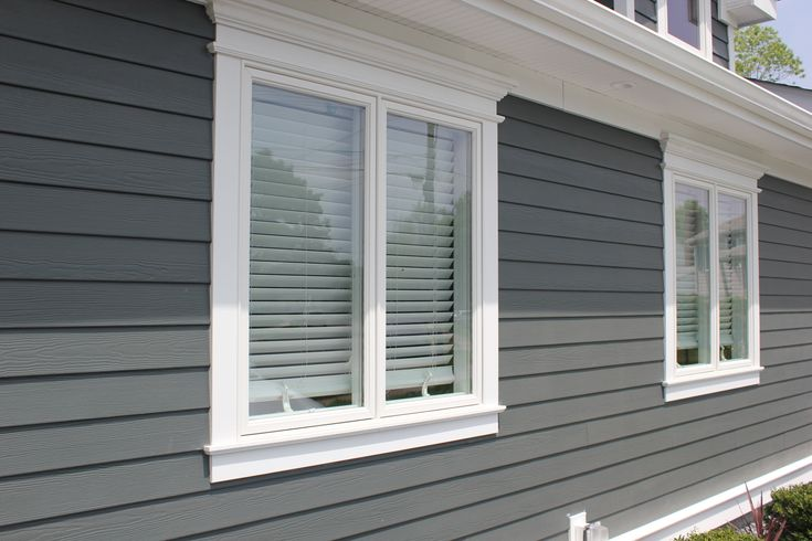 James Hardie Siding & Home Addition, Bethpage, NY.  Iron Gray siding.