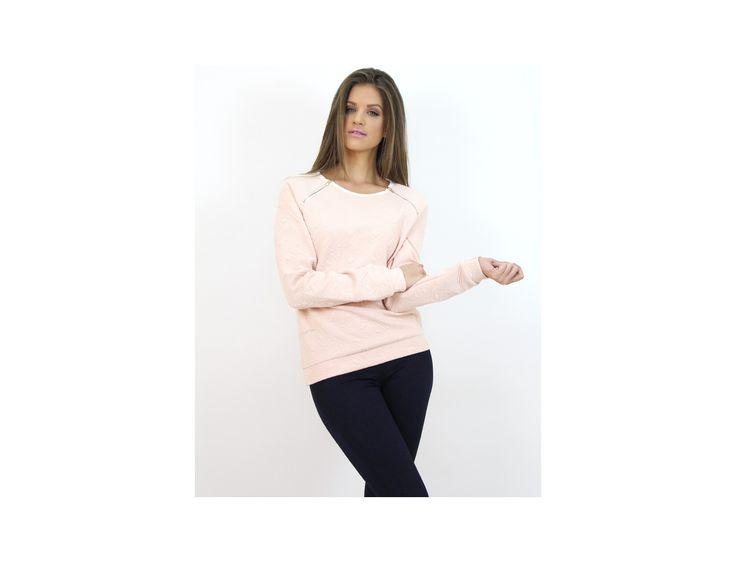 Pulover Modern cu Fermoar la Umăr - Pulovere și Cardigane - www.famevogue.ro  #pulover #moda #stil #sweater #jumper #winter #style #fashion