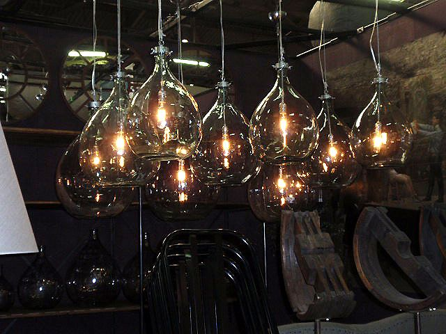 Industrial repurposed lights industrial recycled bottles how cool are these lights