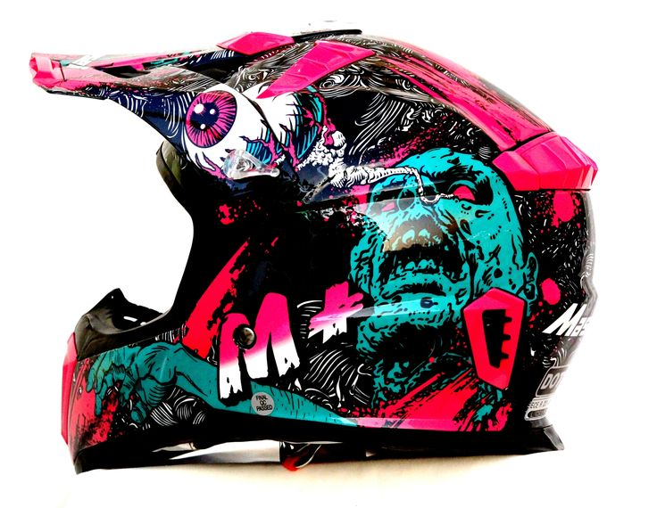 Masei 316 Motocross Dirt Bike Motorcycle Helmet Purple Monster
