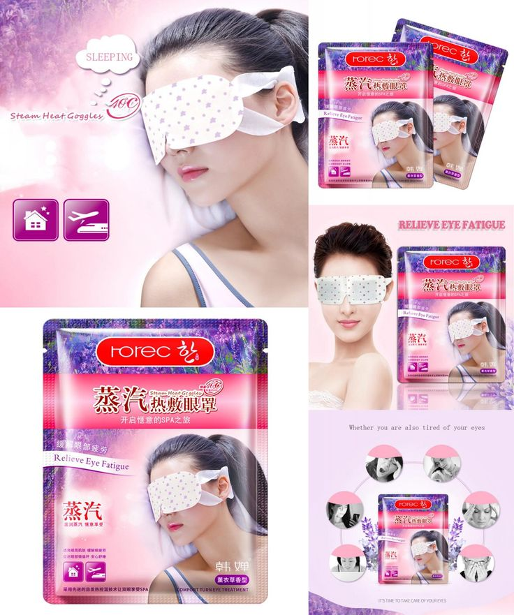 [Visit to Buy] New Hot Sell Lavender Oil Steam SPA Eyeshade 40 Degrees Steam Mask Warm Heat Soothing Tired Eyes&Headache Pad #Advertisement