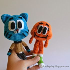This is a pattern for Gumball, the wacky blue cat who stars in the cartoon The Amazing World of Gumball . It's a favourite of my nieces and ...