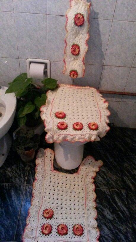 Juegos De Baño Hechos En Crochet:Juego de baño