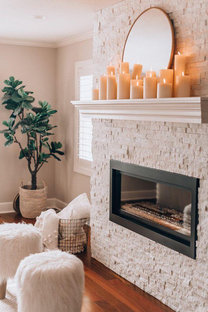 Minimalist Decor Diys, No Mantel Fireplace Decor