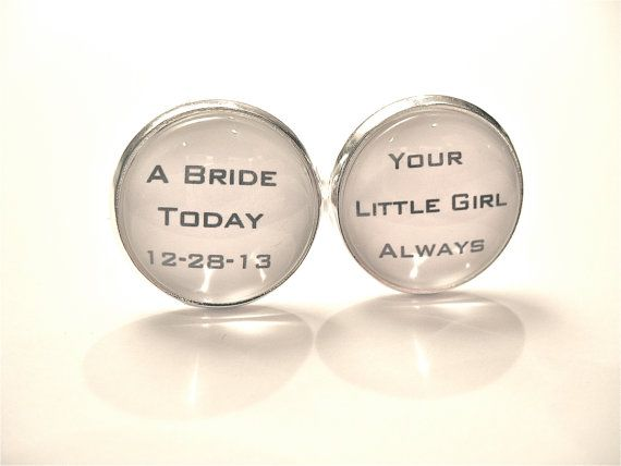 FATHER of the Bride Personalized CUFFLINKS Dad by MyBlueSnowflake, $32.00
