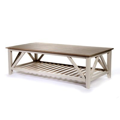 Couchtisch Holz, L:140 X T:70 X H:42cm, Grau