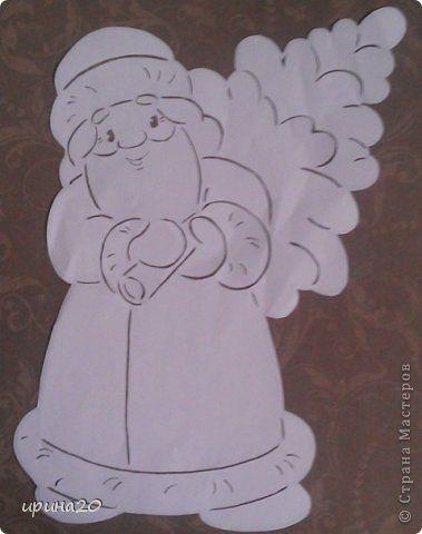 Картина панно рисунок Новый год Вырезание новый год Бумага фото 2