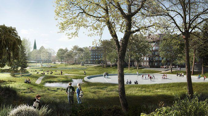 THE SOUL OF NØRREBRO : this project uses nature-based climate adaptation solutions to create new hydrological, biological and social ecosystems for Inner Nørrebro (Copenhagen)