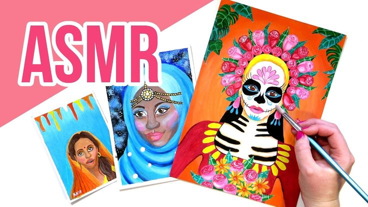 ASRM Painting Collection || Canvas Tapping and Brushing No Talking. In the ASMR video I'm showing you a selection of my paintings. The video includes canvas tapping and brushing and scratching, paper brushing, cardboard tapping and brushing, paint brush sounds and no talking. If you have problems falling asleep, watching ASMR videos might help you fall   asleep. Or if you feel stressed, they could help you relax. For some people   ASMR is triggered by ambient sounds and watching people work…