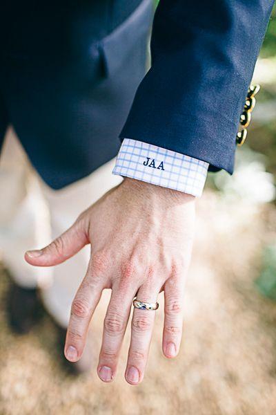 monogrammed cuff | Nikki Santerre #wedding