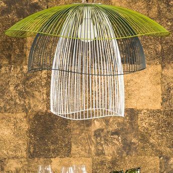 Suspension papillon gm Bleu Blanc Vert #Forestier #Elise #Fouin #papillon #butterfly #design #light #lighting #lampe #luminaire