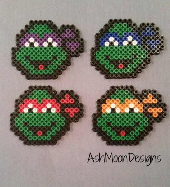 Miniatur Teenage Mutant Ninja Turtle Perler von AshMoonDesigns