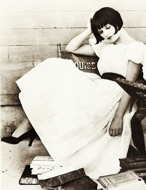 Candid shot of Louise Brooks.  I like her even better relaxed and not artificially posed.