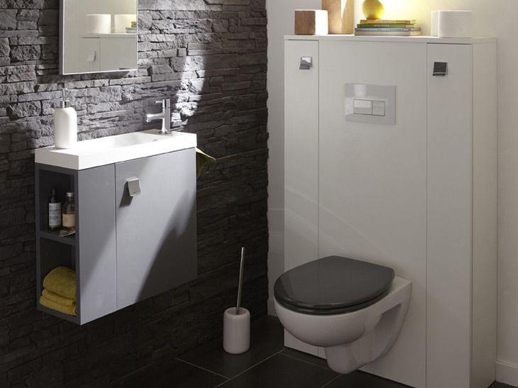 31 best salle de bain images on Pinterest Bathroom, Bathroom - meuble pour wc suspendu leroy merlin