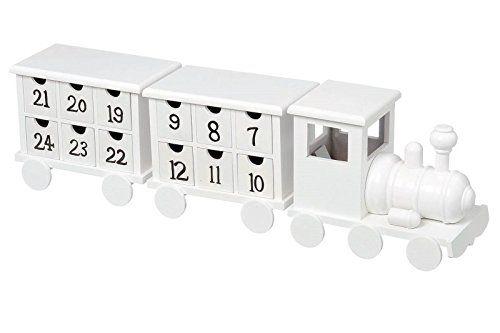 ADVENTSKALENDER EISENBAHN ZUG LOKOMOTIVE IN WEIß AUS HOLZ GEFERTIGT MIT 24 KÄSTCHEN ZUM SELBST BEFÜLLEN Siehe mehr unter http://www.woonio.de/p/adventskalender-eisenbahn-zug-lokomotive-in-weiss-aus-holz-gefertigt-mit-24-kaestchen-zum-selbst-befuellen/