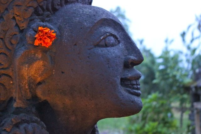 Wherever you wander in our gardens Wayan's sculptures and artworks appear when you least expect them