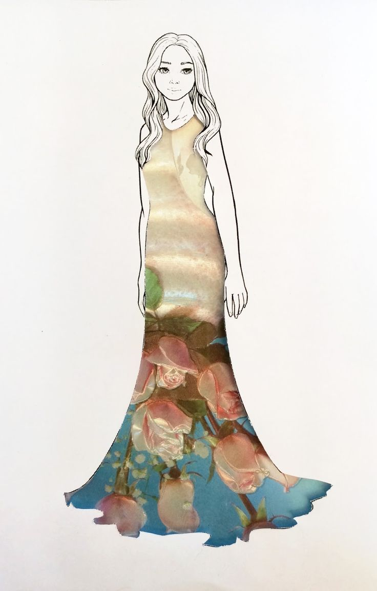 Fashion Illustration, Design, Flowers, Dress, Brittzay, Brittany Glassey