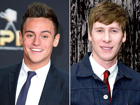 "Olympic diver Tom Daley, 19, is dating Oscar-winning screening writer Dustin Lance Black, 39, and ""doesn't care what people think"" about the age gap."